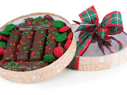 christmas chocolate yuletide chocolate logs gift box li lac chocolates