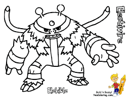 pokemon coloring pages electivire 3 arterey info