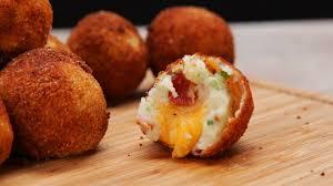 loaded cheese stuffed mashed potato balls youtube