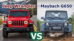 maybach mercedes jeep 2018 jeep wrangler vs 2018 mercedes maybach g650 landaulet suv