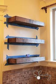 Simple Wooden Shelf Plans by Easy Diy Floating Shelves Shanty 2 Chic
