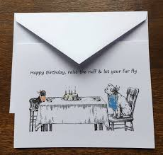 pet birthday cards cats dogs 6 cards per pack vintage