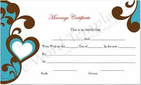marriage certificate template registration of marriages how to