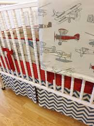 Airplane Crib Bedding Boy Baby Bedding Airplane Bedding Made To Order 4 Pc Vintage