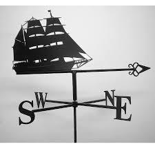 Nautical Weathervane Tall Ship Weathervane By Black Fox Metalcraft Notonthehighstreet Com