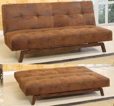 Klik Klak Sofa Bed King S Brand Rustic Brown Fabric With Adjustable Back Klik Klak