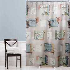 Gray Shower Curtains Fabric And Gray Shower Curtain Home Design Plan