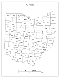 Us Map Ohio by Ohio Labeled Map