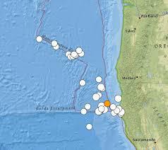 Usgs Earthquake Map California M6 9 California Earthquake Cape Mendocino Has Largest Tremor In Years