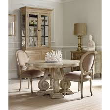 Round Decorator Table by Hooker Furniture 200 351259 Decorator Wilshire Side Chair In White