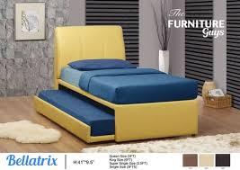 bellatrix faux leather 2 in 1 pull out bedframe u0026 mattress set
