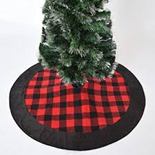 plaid tree skirt gireshome 42 buffalo check plaid christmas tree skirt