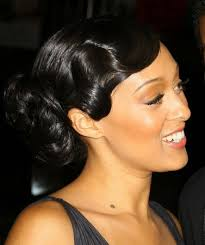 dry wave hairdo polished finger wave bun i think the waves should be smaller
