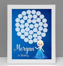 frozen birthday party guest book personalized frozen guestbook