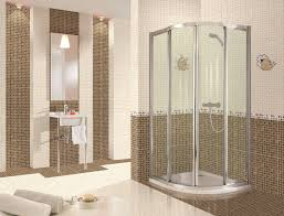 nice modern small bathrooom design with white and brown coloration