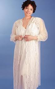 peignoir sets bridal plus size candlelight ivory bridal nightgown peignoir