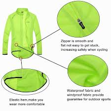 windproof cycling jackets mens men santic raincoat windproof sun protection fluorescent green