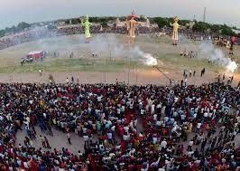 country celebrates dussehra rajnath singh nirmala sitharaman