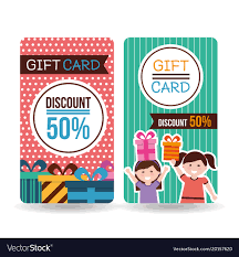 gift card discount gift card discount kids gift boxes royalty free vector image
