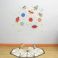 space wall stickers space and rockets childrens wall stickers