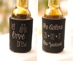 personalized wedding koozies wedding favors wedding koozies let brew personalized