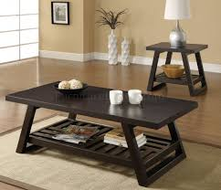 Used Coffee Tables by 701868 3pc Coffee Table Set In Rich Brown By Coaster