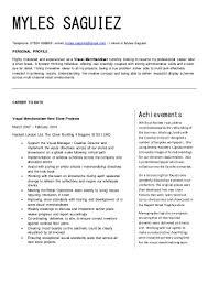 Merchandiser Resume Myles Cv Visual Merchandising 2
