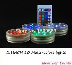 submersible led lights wholesale 4pcs lot wholesale 2 8inch submersible led light 10 multi colors