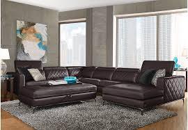 sofia vergara sorrento black cherry 5 pc sectional living room