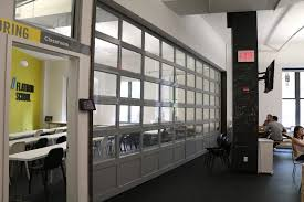 garage room aluminum glass garage overhead sectional roller doors in new jersey