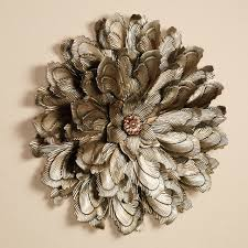 large metal flower wall decor decorative flowers