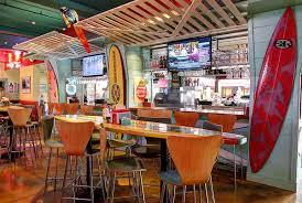 Surfboard Bar Table Wipeout Bar U0026 Grill California Surf U0026 Sports Restaurant On Pier
