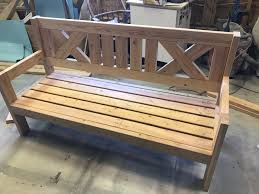 farmhouse outdoor glider bench u2013 build like a