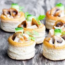 cuisine de a a z verrine mini vols au vent au poulet pimenté recette buffet dinatoire