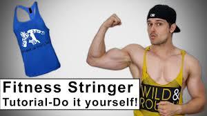 tops selbst designen fitness stringer tank top selber basteln tutorial diy