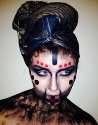 voodoo queen face eyes tribal makeup dark scary makeup