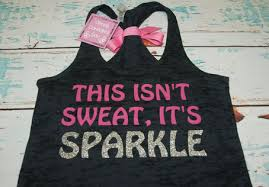 i don t sweat i sparkle tank this isn t sweat it s sparkle glitter writing bow tank top