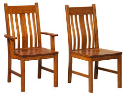 Mission Dining Room Chairs Amish Furniture Hand Crafted Solid Wood Chairs Amish Traditions