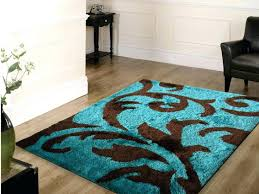 Abstract Area Rugs Abstract Area Rugs Bright Wonderful Brown And Turquoise Rug Teal