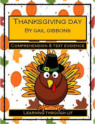 gail gibbons thanksgiving day comprehension text evidence tpt