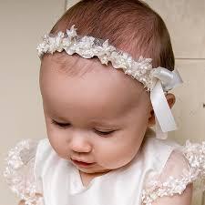 baby girl headband leila collection christening headband for baby baptism