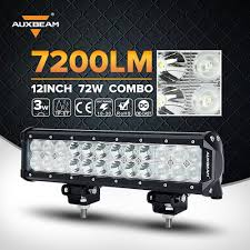 auxbeam light bar review auxbeam 12 72w cree led work light bar 7200lm combo beams 24pcs 3w