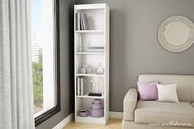 sauder bookcase with glass doors top 30 collection of white bookcases and bookshelfs
