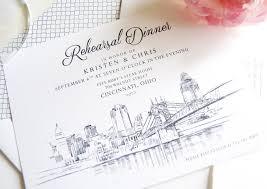 rehearsal and dinner invitations cincinnati rehearsal dinner invitations