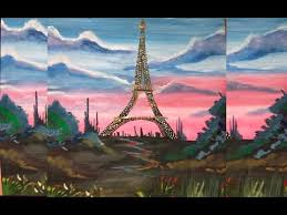 beautiful eiffel tower watercolor painting youtube