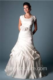mermaid scoop neck corset back ivory satin pleated modest wedding