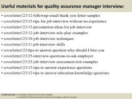 quality assurance consultant cover letter