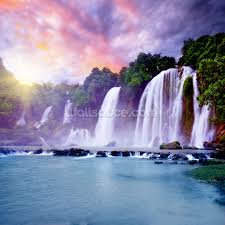 landscape wallpaper wall murals wallsauce usa banyue waterfall wall mural wallpaper