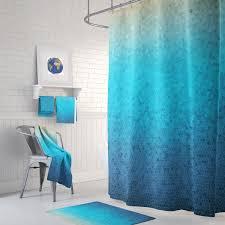details sea glass mosaic shower curtain set