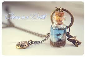 glass bottle necklace pendant images Ocean in a bottle necklaceminiature mermaid glass bottle with jpg